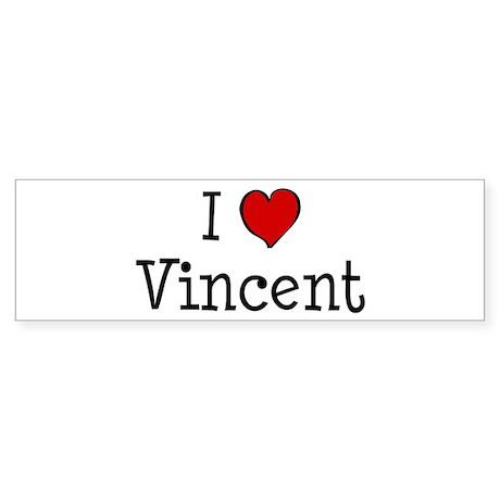 I love Vincent Bumper Sticker