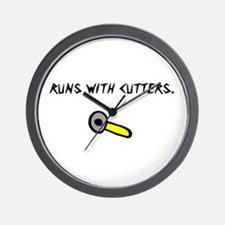 Runs With Cutters Wall Clock