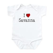 I love Savanna Infant Bodysuit