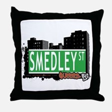 SMEDLEY STREET, QUEENS, NYC Throw Pillow