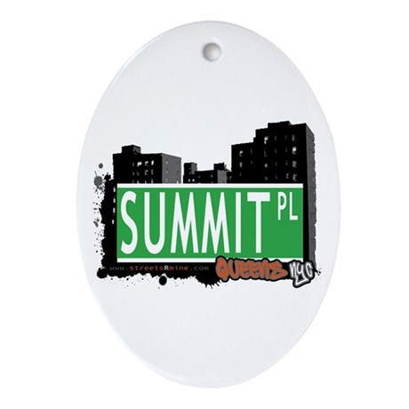 SUMMIT PLACE, QUEENS, NYC Oval Ornament