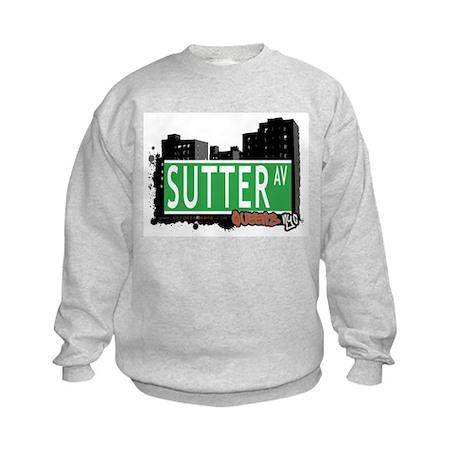 SUTTER AVENUE, QUEENS, NYC Kids Sweatshirt