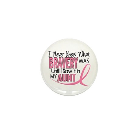 Bravery (Aunt) Breast Cancer Support Mini Button (