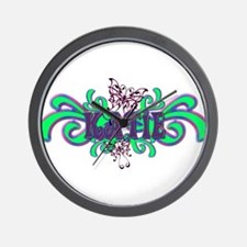 Katie's Butterfly Name Wall Clock