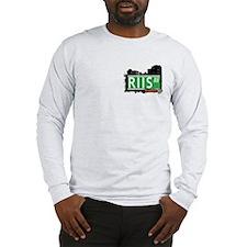 RIIS AVENUE, QUEENS, NYC Long Sleeve T-Shirt