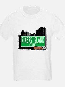 RIKERS ISLAND STREET, QUEENS, NYC T-Shirt
