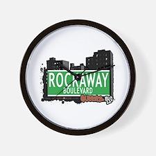 ROCKAWAY BOULEVARD, QUEENS, NYC Wall Clock