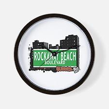 ROCKAWAY BEACH BOULEVARD, QUEENS, NYC Wall Clock
