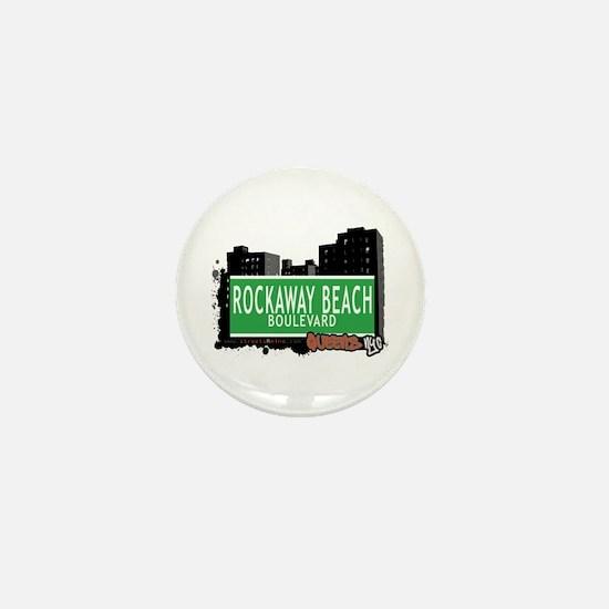 ROCKAWAY BEACH BOULEVARD, QUEENS, NYC Mini Button