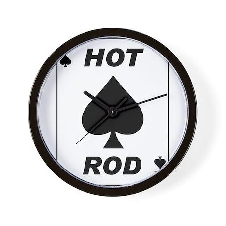 Hot Rod Ace Wall Clock
