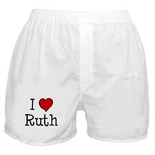 I love Ruth Boxer Shorts