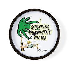 Palms Hurricane Wilma Wall Clock