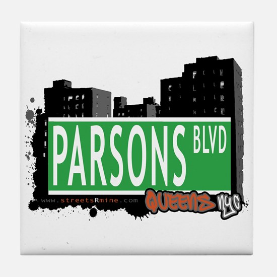 PARSONS BOULEVARD, QUEENS, NYC Tile Coaster