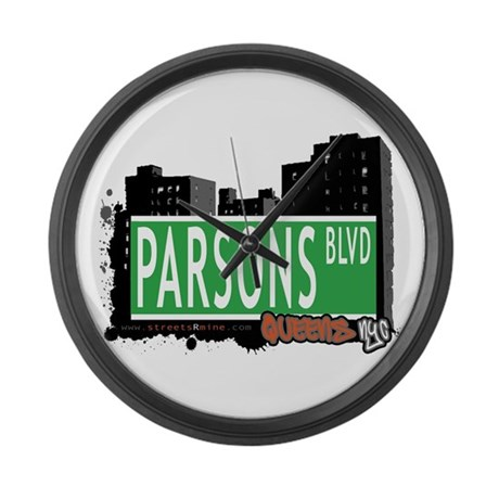 PARSONS BOULEVARD, QUEENS, NYC Large Wall Clock