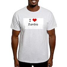 I LOVE ZAMBIA Ash Grey T-Shirt