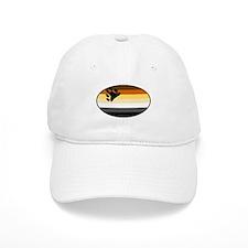 Oval Bear Pride Flag Baseball Cap
