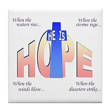 He is Hope Tile Coaster