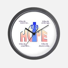 He is Hope Wall Clock