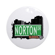 NORTON DRIVE, QUEENS, NYC Ornament (Round)