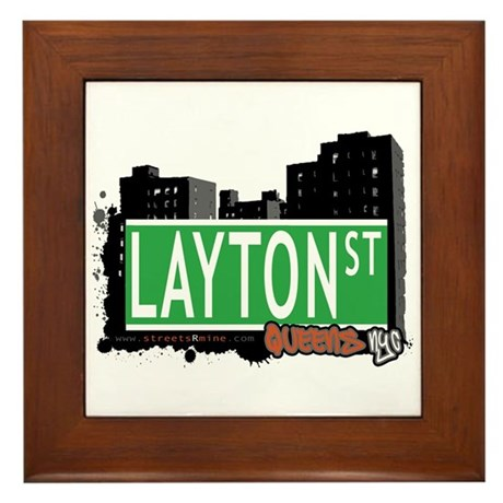 LAYTON STREET, QUEENS, NYC Framed Tile