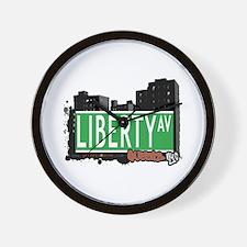 LIBERTY AVENUE, QUEENS, NYC Wall Clock