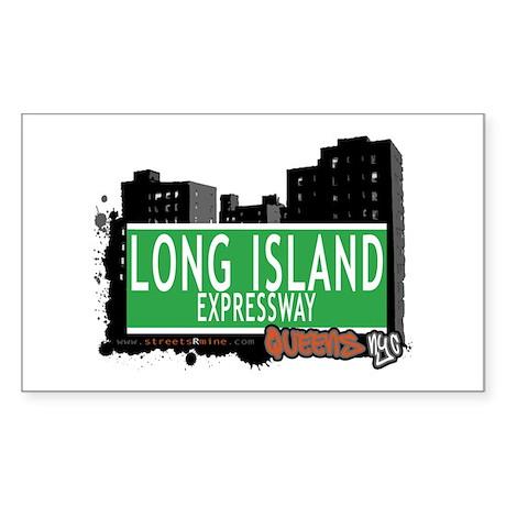 LONG ISLAND EXPRESSWAY, QUEENS, NYC Sticker (Recta
