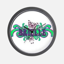 Brielle's Butterfly Name Wall Clock