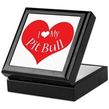 I Heart My Pit Bull Keepsake Box