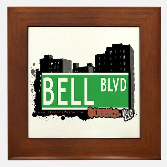 BELL BOULEVARD, QUEENS, NYC Framed Tile