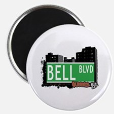 "BELL BOULEVARD, QUEENS, NYC 2.25"" Magnet (10 pack)"