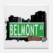 BELMONT AVENUE, QUEENS, NYC Tile Coaster