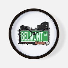 BELMONT AVENUE, QUEENS, NYC Wall Clock