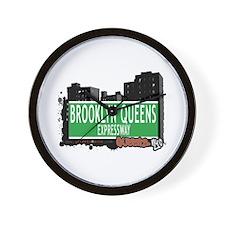 BROOKLYN QUEENS EXPRESSWAY, QUEENS, NYC Wall Clock