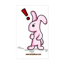 Bunny Surprise Rectangle Decal