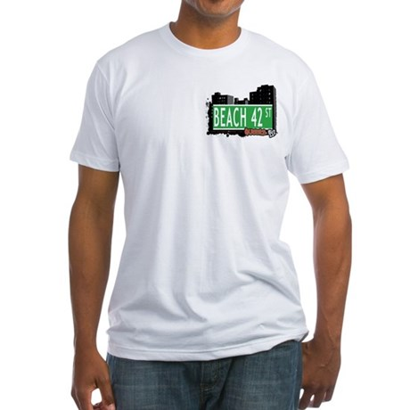BEACH 42 STREET, QUEENS, NYC Fitted T-Shirt