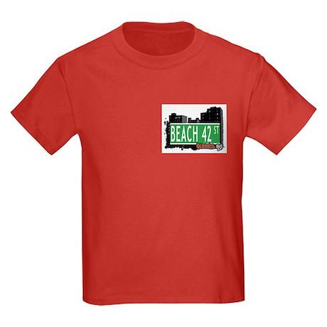 BEACH 42 STREET, QUEENS, NYC Kids Dark T-Shirt