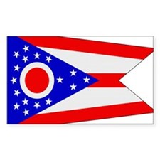 Beloved Ohio Flag Modern Styl Rectangle Decal