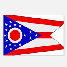 Beloved Ohio Flag Modern Styl Postcards (Package o
