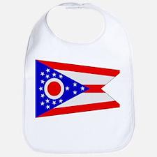 Beloved Ohio Flag Modern Styl Bib