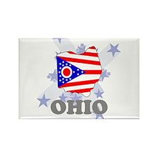 All Star Ohio Rectangle Magnet