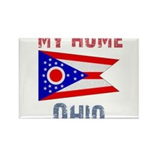 My Home Ohio Vintage Style Rectangle Magnet