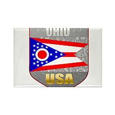 Ohio USA Crest Rectangle Magnet