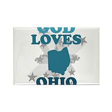 God Loves Ohio Rectangle Magnet