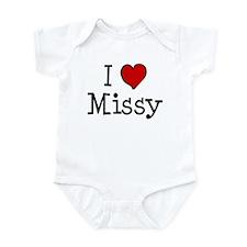I love Missy Infant Bodysuit