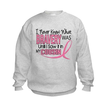 Bravery (Cousin) Breast Cancer Kids Sweatshirt
