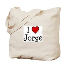 I love Jorge Tote Bag
