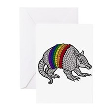 Texas Rainbow Armadillo Greeting Cards (Package of