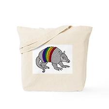 Texas Rainbow Armadillo Tote Bag