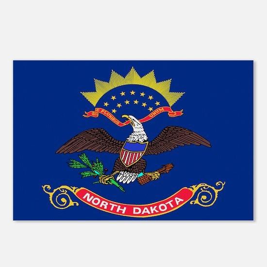 Beloved North Dakota Flag Mod Postcards (Package o