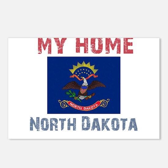 My Home North Dakota Vintage Postcards (Package of